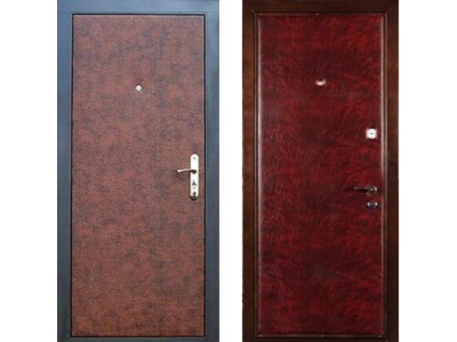 железные двери в кожей